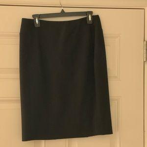Halogen black pencil skirt. Never worn. Size 6